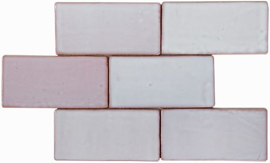 Costa Del Pink Haze Gloss Spanish Wall Tile 150x75x8mm
