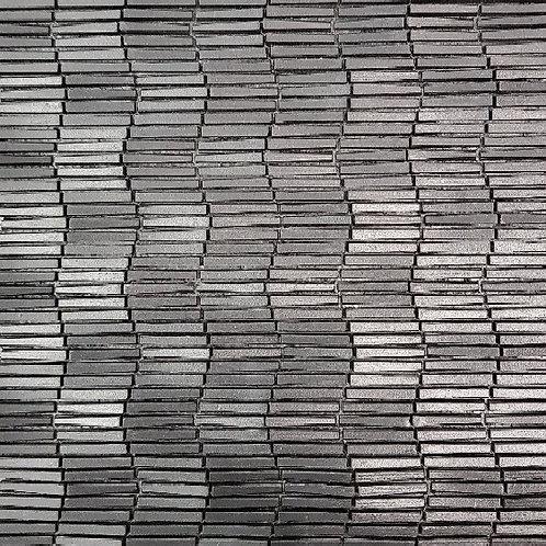 Black Vertex Ripple 3D Mosaic 303x398x6mm