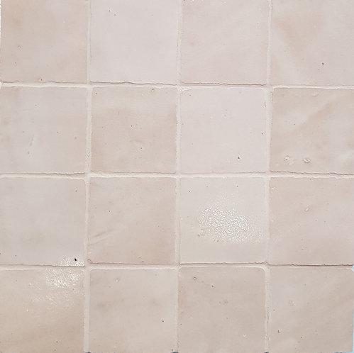 Bianco Petite Zellige Morocco Handmade Glazed 50x50x13mm