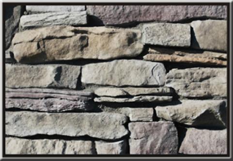Mountain Ledgestone Merlot Flat Stone Cladding