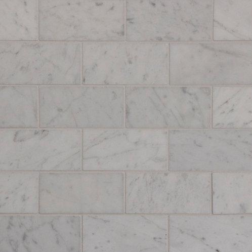 Aruba Carrara C Honed Mini Subway Mosaic 305x305x10mm