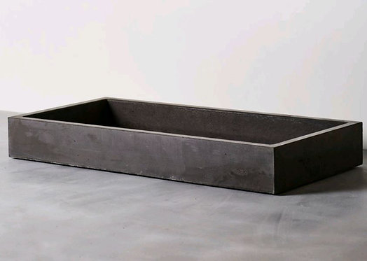Cube Concrete Basin Dark Charcoal 840(L)x390(W) - Other sizes available (P.O.A)