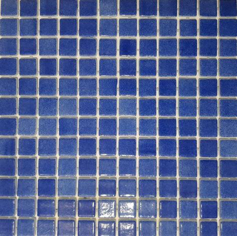 Vision Deep Royal Blue Glass Pool Mosaic 315x315x4mm (25x25mm chip) Dot Mesh