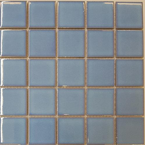 Sky Blue Porcelain Mosaic 297x297x4mm (48x48mm chip)