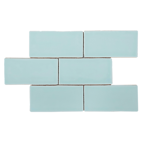 Costa Del Tiffany Blue Spanish Handmade Subway 150x75x8mm
