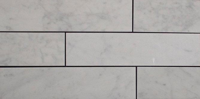 Italian Carrara Honed Subway  300x75x10mm