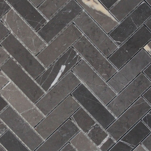 Porto Pietra Grey Herringbone Honed Mosaic 280x248x10mm