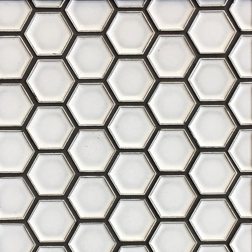 Antigua White Indent Mini Hex Mosaic 285x245mm