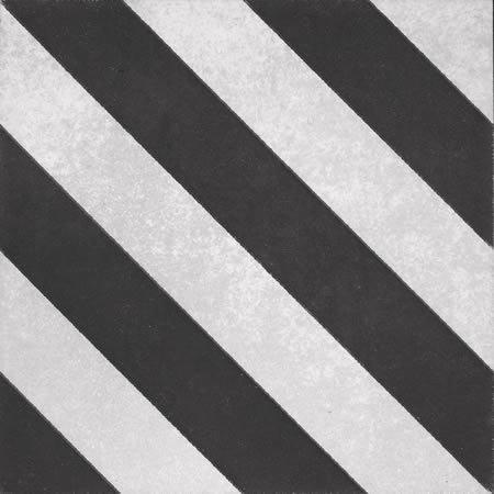 Artisan Milan Black Diagonal Stripe Pattern 200x200x7mm