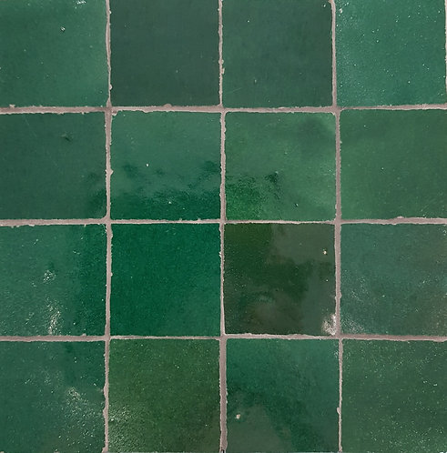 Emerald Petite Zellige Morocco Handmade Glazed 50x50x13mm