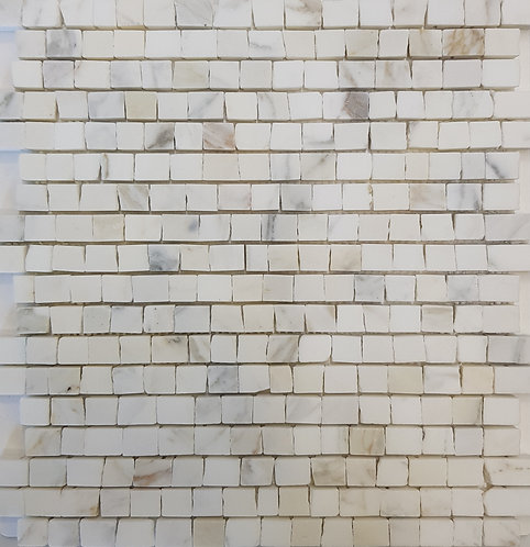 Mezzano Calacatta Oro Antique Cut Honed Mosaic 305x305x15mm