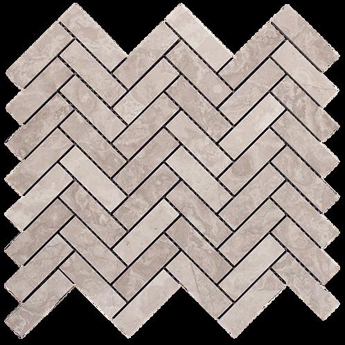 Silver Cloud Cross Cut Herringbone Honed 280x248x10mm