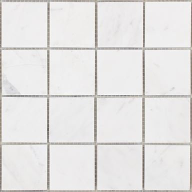 Volakas Honed Square Mosaic 300x300x10mm