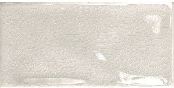 Crackle Finish Bianco Italian Subway 75x150x6mm