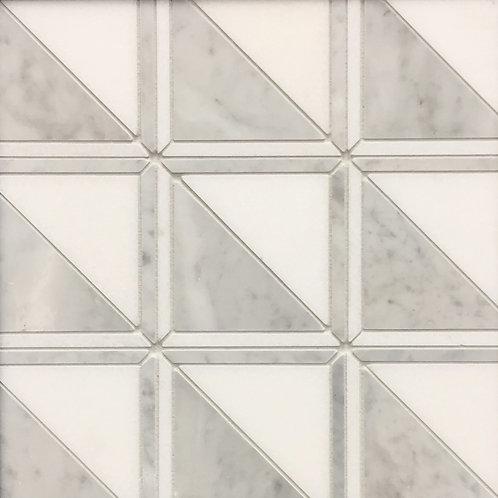 Lyrebird Rubix Carrara and Thassos 305x305mm