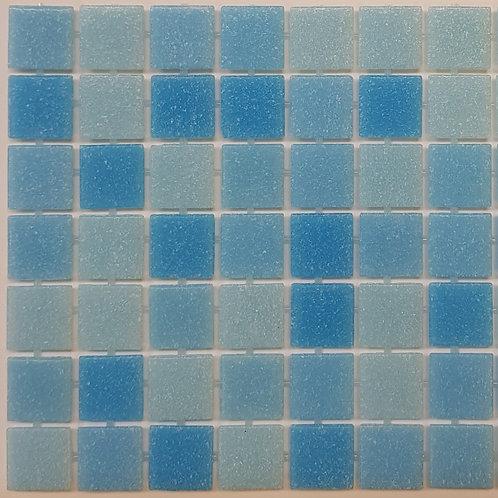 Aspen Glass Pool Mosaic 300x300x4mm sheet (20x20mm chip) Dot Mounted