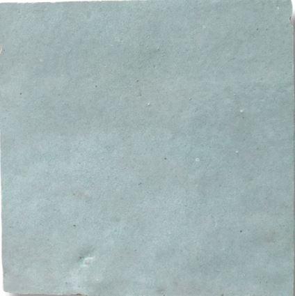 Aquamarine Zellige Morocco Handmade Glazed 100x100x13mm
