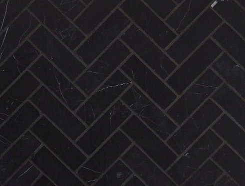Nero Marquina Honed Herringbone 280x248x10mm