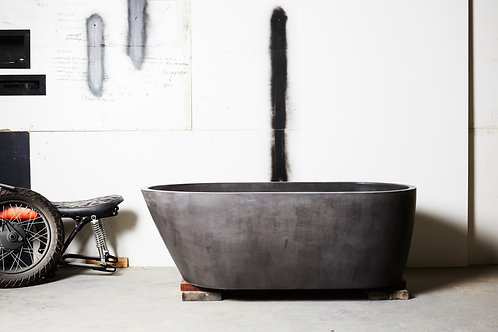 Oasis Concrete Bath Dark Charcoal 1690x795x555