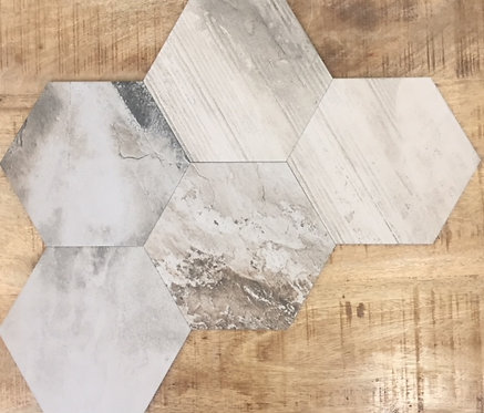 Banished Country Light Grey Hexagon 200x230x8mm
