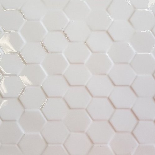 White Gloss Large 3D Hex 300x600x10mm
