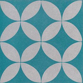 Artisan Oxford Turquoise Matt Patterned Rectified 200x200x7mm