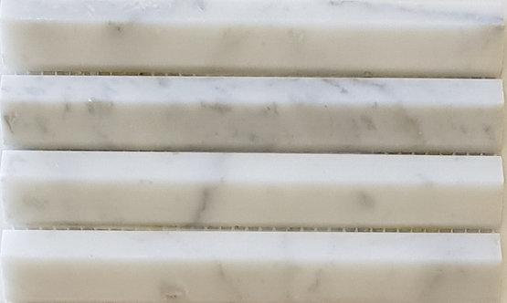 Firenze Carrara 3D Honed Mosaic 292x306x8mm (Chip 19x145mm)
