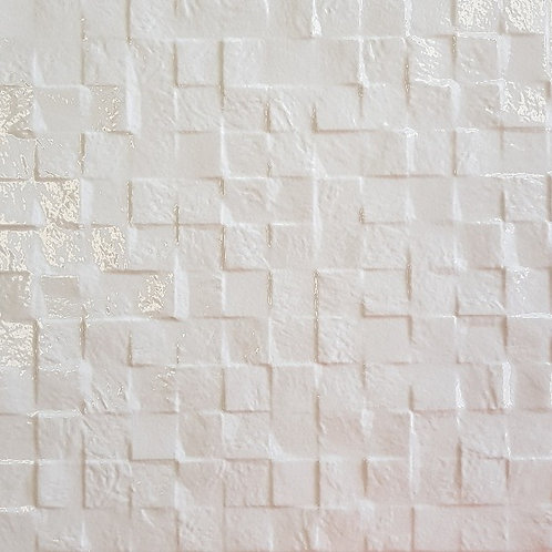 Shimmer White Large 3D Cubes 300x600x8mm