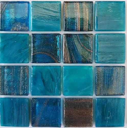 Pacific One Paola Glass Pool Mosaic 322x322x4mm (20x20mm chip) Hotmelt
