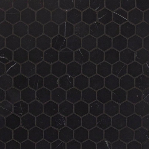 Nero Marquina Honed Hexagon 280x295x10mm