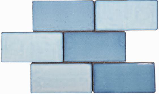 Costa Del Blue Haze Gloss Spanish Wall Tile 150x75x8mm