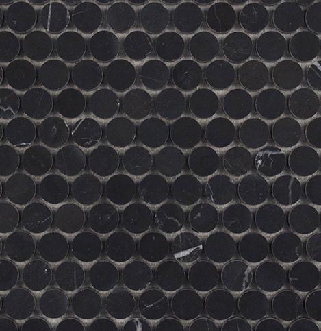 Nero Marquina Honed Penny Round 305x287mm