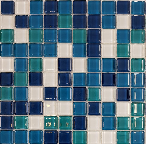 Hamilton Glass Mosaic 320x320x4mm (20x20mm chip)