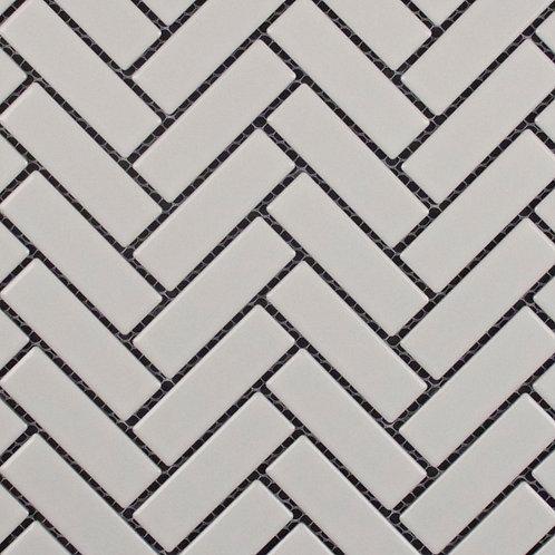 Summit White Herringbone Gloss Mosaic 310x275x5mm