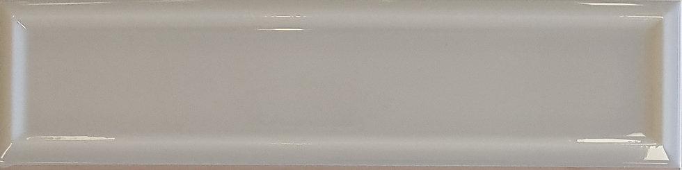 Miami Light Grey Frame Ceramic Gloss Pressed Edge Subway 68x280x7mm