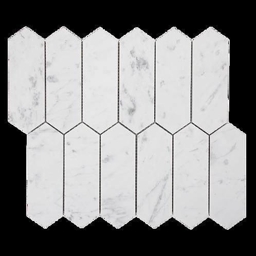 "Carrara C ""Extra"" Honed Picket Mosaic 310x270x10mm"