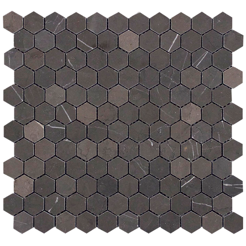 Porto Pietra Grey Hexagon Honed Mosaic 280x295x10mm