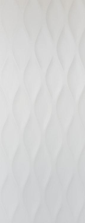 Gemini Wave Matt White Ceramic Rectified 450x1200x10mm