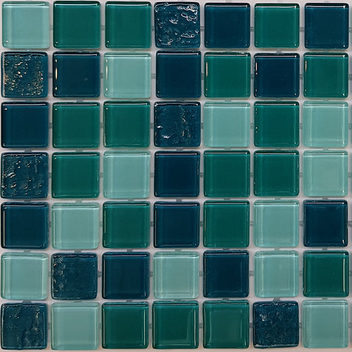 Cardrona Glass Pool Mosaic 300x300x4mm sheet (20x20mm chip) Dot Mounted