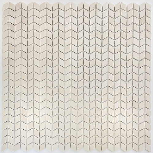 Newport Nude Chevron Matt Glass Mosaic 306x306x6mm