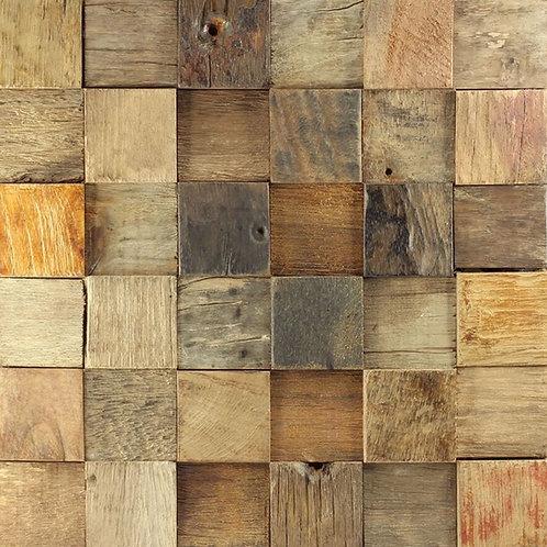 Caribbean 02 Organic Natural Timber Panels 300x300mm