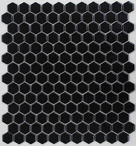 Halt Black Hexagon Gloss Mosaic 280x300x5mm