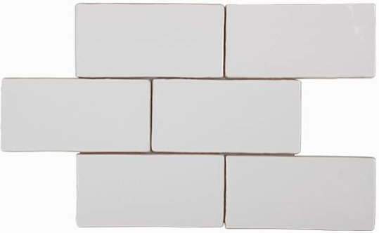 Costa Del Super White Gloss Spanish Wall Tile 150x75x8mm