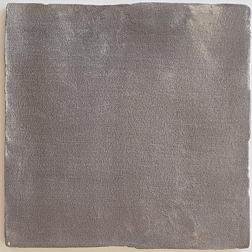 Spanish Handmade Pewter Glazed Ceramic Wall Tile 130x130x9mm