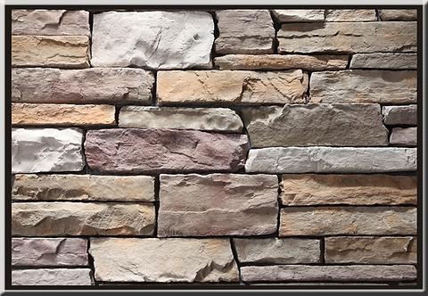 Stacked Ledgestone Merlot Flat Stone Cladding