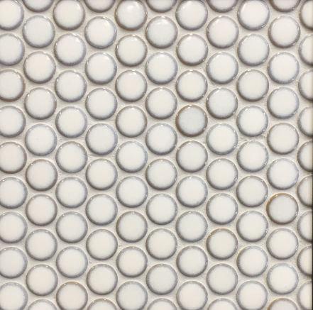 Pennylane Antique White Glazed Penny Round 28mm 314x328x6mm