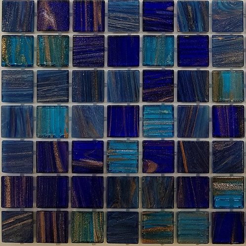 Thredbo Glass Pool Mosaic 300x300x4mm sheet (20x20mm chip) Dot Mounted