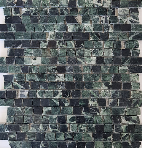 Mezzano Verdi Alpi Antique Cut Honed Mosaic 305x305x15mm