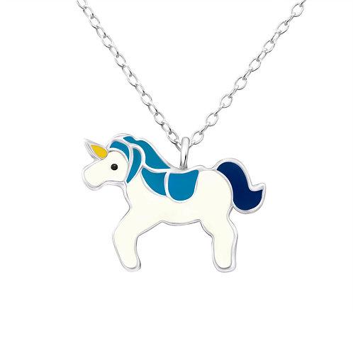 Unicorn Necklace - Blue