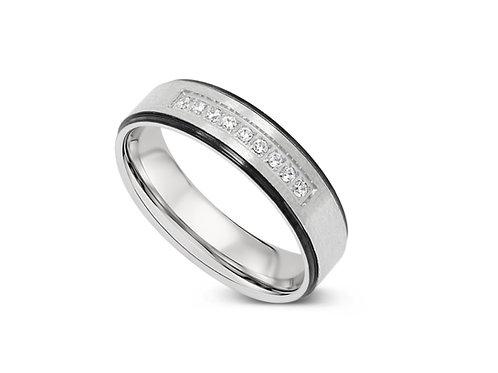Inline CZ Ring - Black